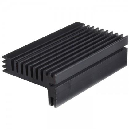 Radiateur dissipateur thermique anodisé Noir 300x120x40