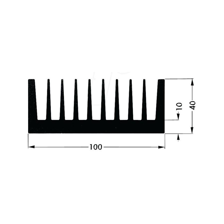 Heat Sink Aluminium Black 78x47x30mm P 9299