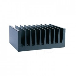 Radiateur dissipateur thermique anodisé Noir 100x75x40mm