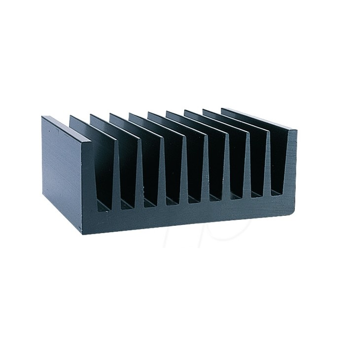 Heat Sink Aluminium Black 100x75x40mm