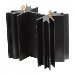 Heat Sink Aluminium Black 38,1x35x12,7mm