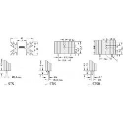 Radiateur dissipateur thermique anodisé Noir 38,1x42x25mm