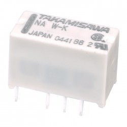 TAKAMISAWA NA12W-K Dual Contact Universal Relay for PCB 12V 2A
