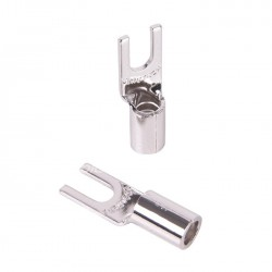 FURUTECH FP-209-10 (R) Fourches Cuivre pur Rhodium Ø 4mm (Set x10)