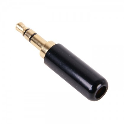Jack 3.5mm Plug Stereo Gold plated 24K Ø 4mm (Unité)