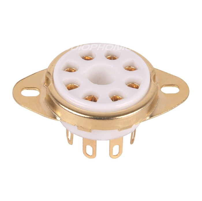 Ceramic 8 pin tube socket Gold plated