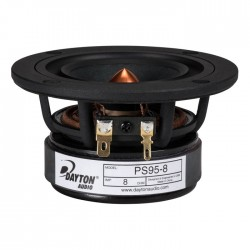 DAYTON AUDIO PS95-8 Speaker Driver Full Range 10W 8 Ohm 86dB 130Hz - 20kHz Ø 9cm