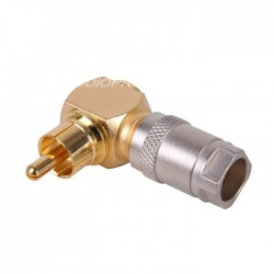 MONACOR T-714G RCA connector 90° angled Gold Plated Ø6.3mm (Unit)