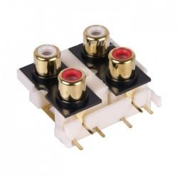 MONACOR T-740G Embase RCA pour circuits imprimés