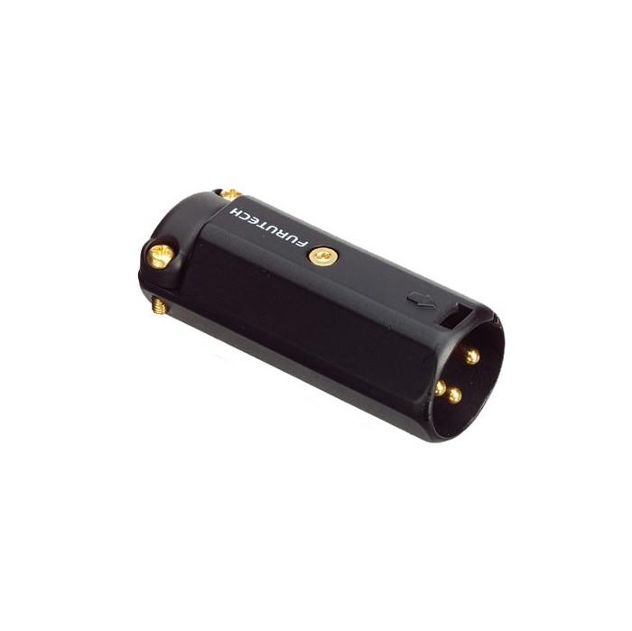 FURUTECH FP-601M (R) Connecteur XLR Mâle 3 Pôles Plaqué Rhodium Ø 12mm (Unité)