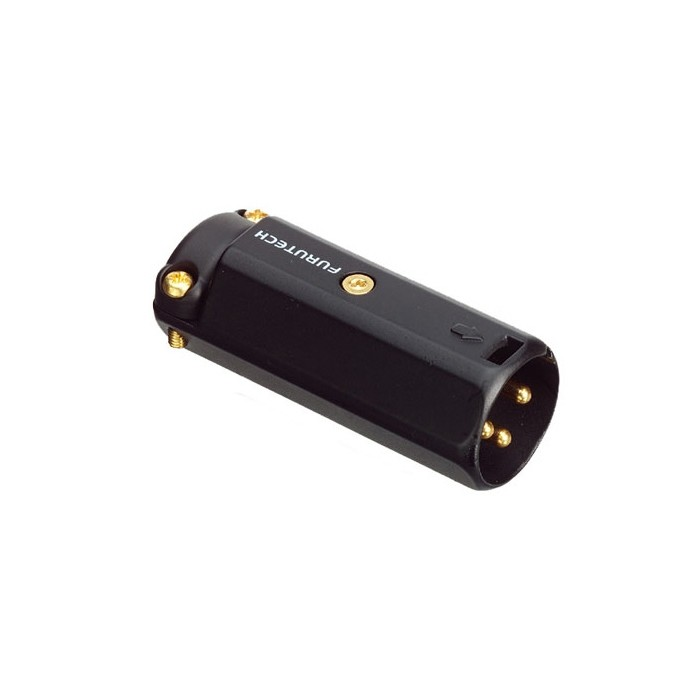 FURUTECH FP-601M (R) Connecteur XLR Mâle 3 Pôles Plaqué Rhodium Ø12mm (Unité)
