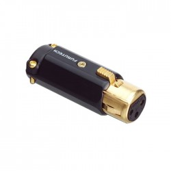 FURUTECH FP-602F (G) Gold Plated 3 Way Female XLR Connector Ø 12mm (Unit)