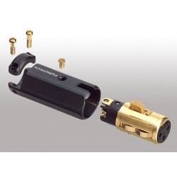 FURUTECH FP-602F (G) Fiche XLR Femelle Plaqué Or Ø 12mm (Unité)