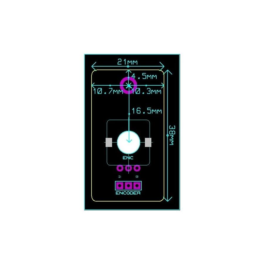 Audiophonics Kit Diy Encoder Module For Volume Control Cs3318 Circuit Board Clamping