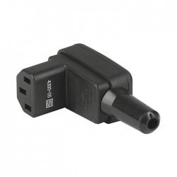 SCHURTER 4300-06 Connecteur IEC C13 3x 2.5mm² RoHS Coudé 90° Ø13mm