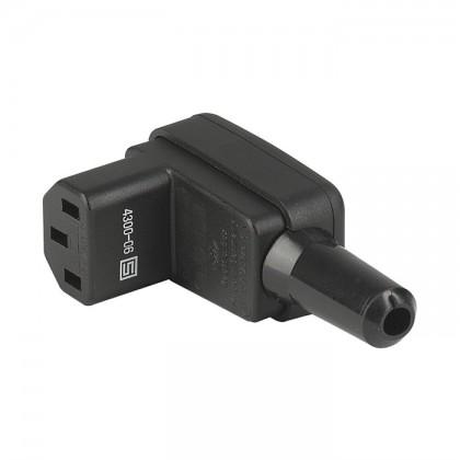 SCHURTER 4300-06 Connecteur IEC C13 3x 2.5mm² RoHS Coudé 90° Ø 13mm