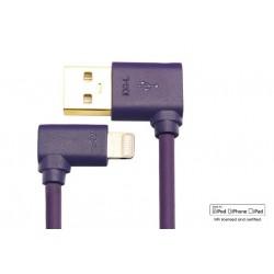 FURUTECH ADL ID8-L Connecteur coudé Apple lightning vers USB A 10cm