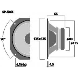 MONACOR SP-50X Haut-parleur large bande 13.5cm