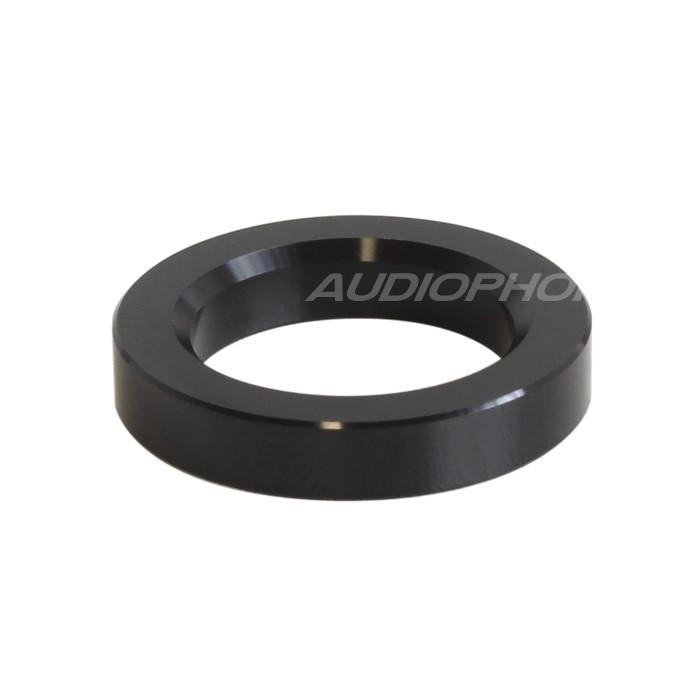 Anneau d'Habillage Aluminium pour Tubes Ø23mm Noir (Unité)