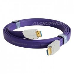 KAIBOER KBEH-L2.0 Câble HDMI 2.0 ULTRA HD 2160p 18Gbps 4K plaqué Argent 3m