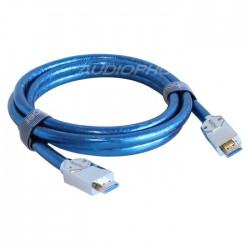 KAIBOER KBEH-T2.0 Câble HDMI 2.0 ULTRA HD 2160p 18Gbps 4K plaqué Argent 6m