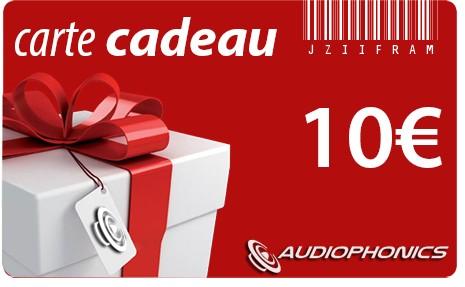 Carte Cadeau AUDIOPHONICS - 10€