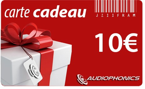 Gift Card AUDIOPHONICS - 10€