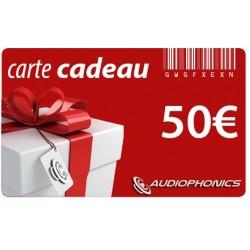 Carte Cadeau AUDIOPHONICS - 50€
