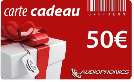 Gift Card AUDIOPHONICS - 50€