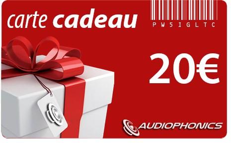 Carte Cadeau AUDIOPHONICS - 20€