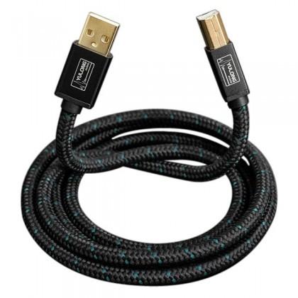 YULONG CU2 Câble USB A vers USB B 2.0 Cuivre OFC plaqué Argent