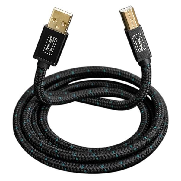 YULONG CU2 Câble USB-A vers USB-B Cuivre OFC plaqué Argent 1.2m