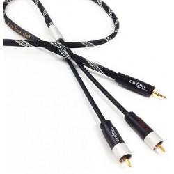 1877 PHONO EVANGEL MK2 Câble Modulation Jack 3.5mm vers RCA 1.5m