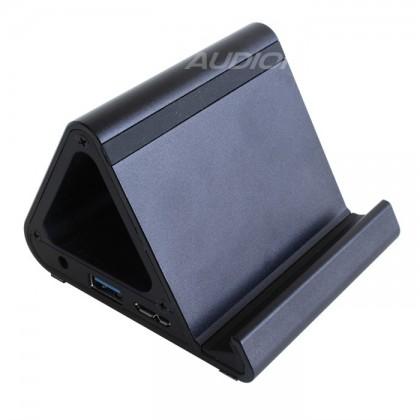 A-HUSB3 HUB Dock Aluminium 4 Ports USB 3.0 High Speed 5Gbps