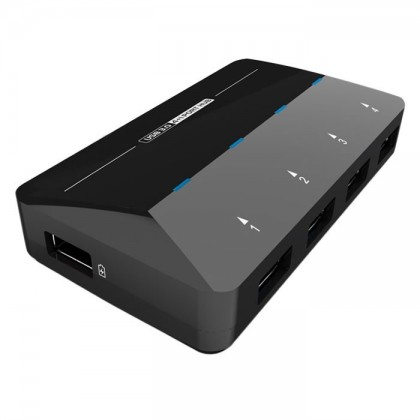 WST HUSB31 HUB 4+1 Ports USB 3.0 Haut débit 5Gbps 2.4A