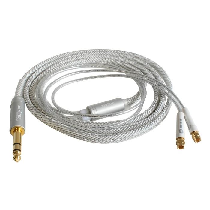 1877PHONO CALI SMC 6.35-SMC Câble Jack 6.35mm vers SMC pour HIFIMAN PC-OCC Blanc 1.8m