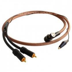 1877PHONO Zavfino Cove Câble RCA vers DIN coudé Cuivre OFHC pour platine vinyle 1.2m