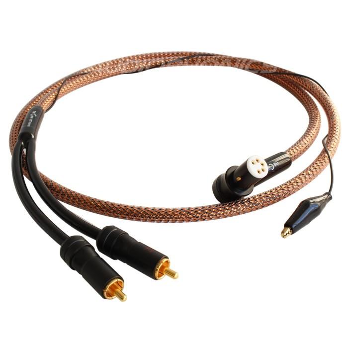 1877PHONO Cove Câble RCA vers DIN coudé OFHC pour platine vinyle 1.2m