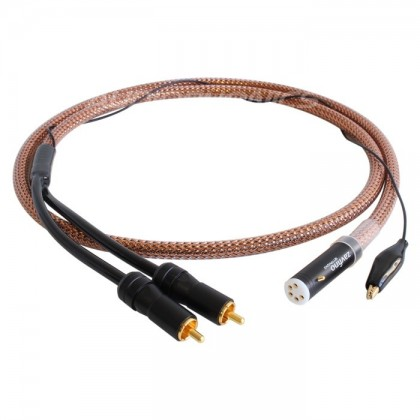 1877PHONO Zavfino Cove Cable RCA to DIN High purity OFHC Copper for turntable 1.2m