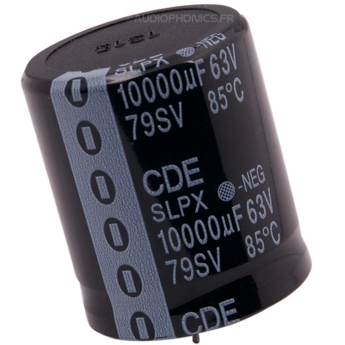 Capacitor CORNELL Dubilier aluminum 63V 10000μF