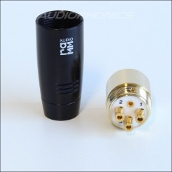 Ramm AUDIO Connecteur XLR mâle 3 pôles Cuivre pur plaqué Or Ø 11mm (L'unité)