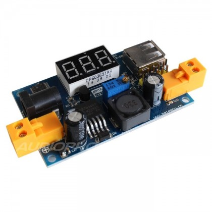 Step Down Adjustable Power Supply Module LM2596 with LED voltmeter