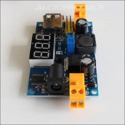 Régulateur de voltage USB avec afficheur type LM2596