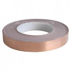 Feuille de cuivre 10mm blindage conducteur auto-adhésif 1m