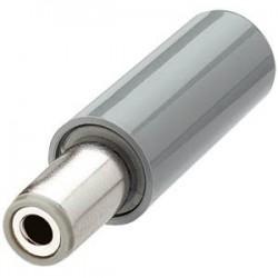 Fiche d'alimentation Jack DC Ø 5.5 - 2.1mm Gris