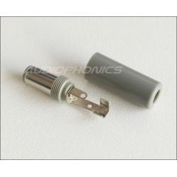 Fiche d'alimentation Jack DC Ø 5.5 - 2.5mm Gris