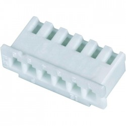 XH 2.54mm Female Casing 6 Channels White (Unit)
