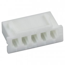 XH 2.54mm Female Casing 5 Channels White (Unit)