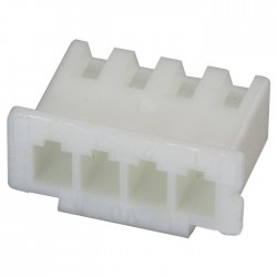 XH 2.54mm Female Casing 4 Channels White (Unit)