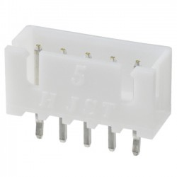 XH 2.54mm Male Socket 5 Channels White (Unit)